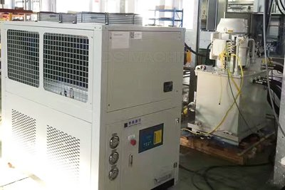 Air cooled industrial water chiller for hydraulic oil indirect cooling